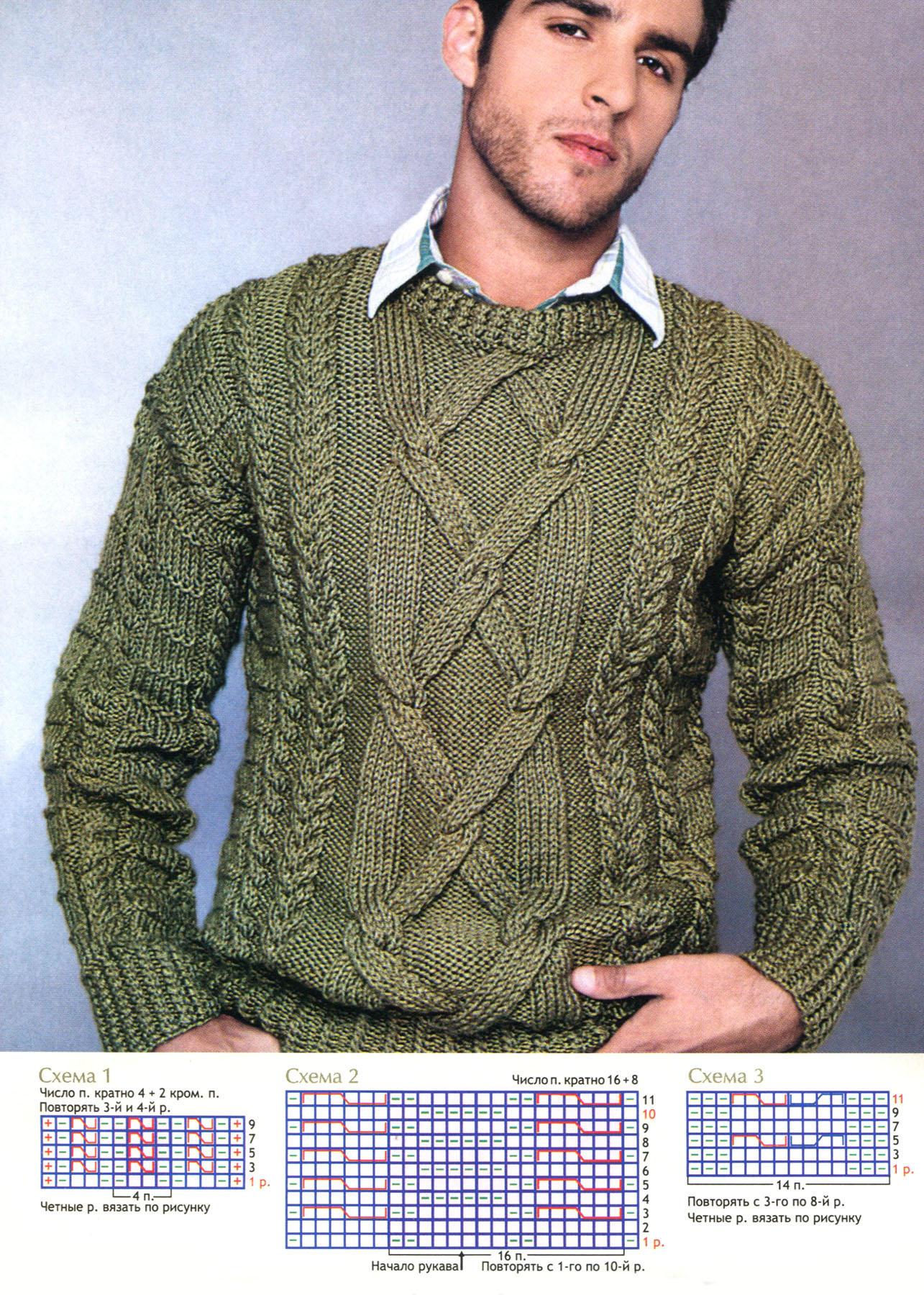 Тонкий свитер схема