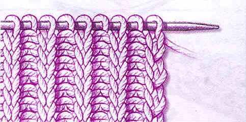 вязка английская резинка круговыми спицами шапка резинкой два на